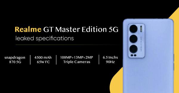 realme GT大师版参数曝光:骁龙870+一亿像素