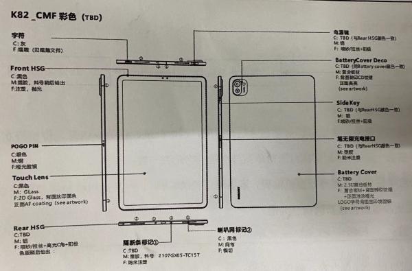 疑似小米平板5设计图曝光 网友:小米11放大版