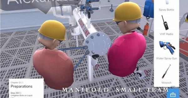 EPS与Kanda合作开发VR液化天然气加注模拟培训课程