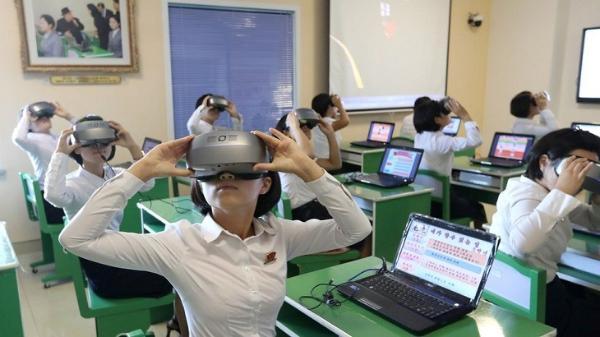 平壤模范小学基于VR/AR技术开展沉浸式教学