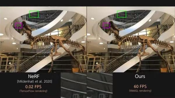 泰国科学技术研究所展示体积视频视图合成算法