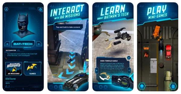华纳兄弟推出AR蝙蝠侠应用「DC:Batman Bat-Tech Edition」