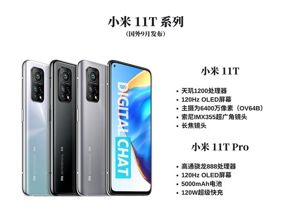 官宣:小米11T系列下月15日发布