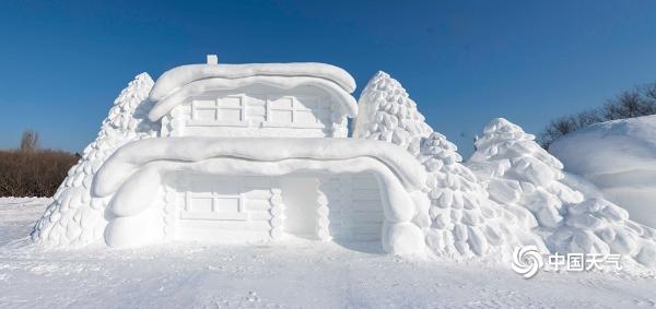 哈尔滨太阳岛雪博会试开园 享受一场艺术的盛宴