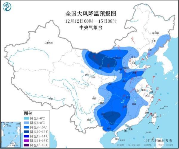 今冬首次寒潮来袭 南方大范围雨雪将开启