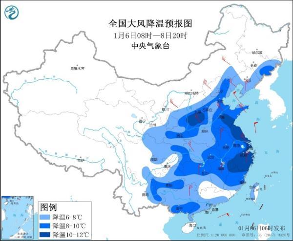 寒潮侵袭中东部地区 南方雨雪增多