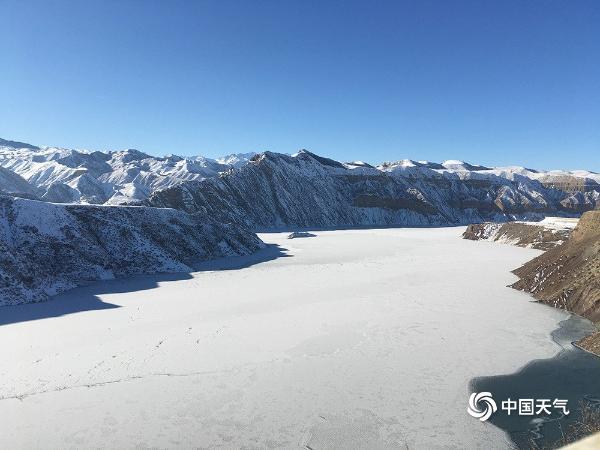 最美人间雪景天!新疆玛纳斯山区银装素裹