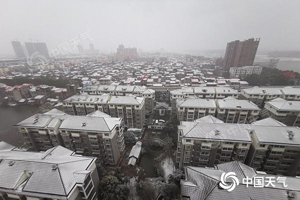 """湖南迎2021年首场降雪 今天仍有雨雪""""冻""""感十足"""