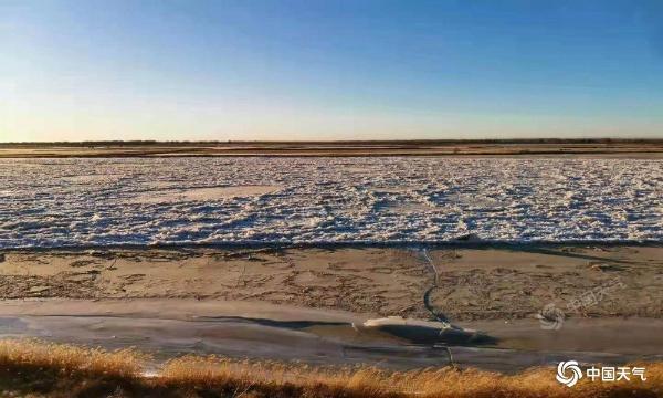 内蒙古气温回升缓慢风寒效应明显 黄河鄂尔多斯段进入封冻期