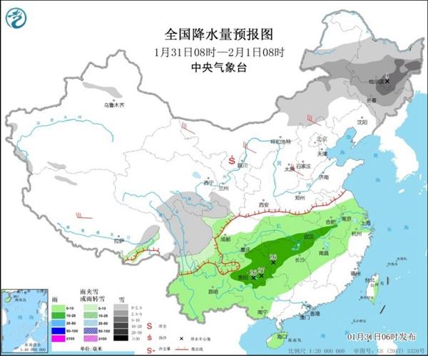 强冷空气影响东北中东部降雪