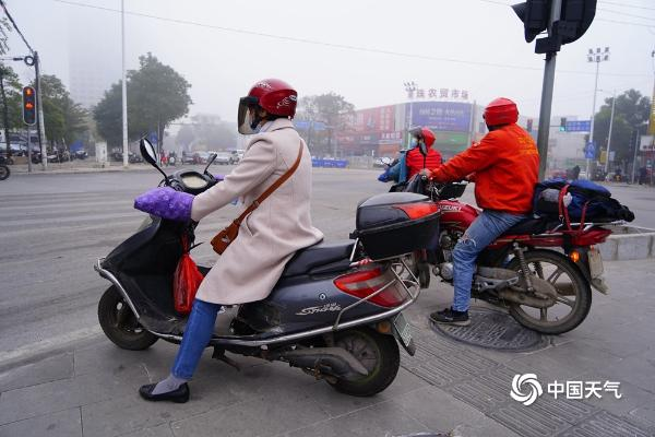 """大雾""""锁城"""" 广西钦州最小能见度不足50米"""