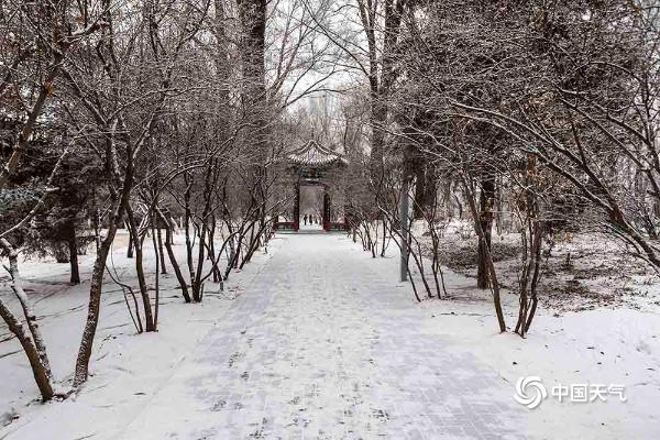 青海多地降雪冬韵足 粉妆玉砌如童话世界
