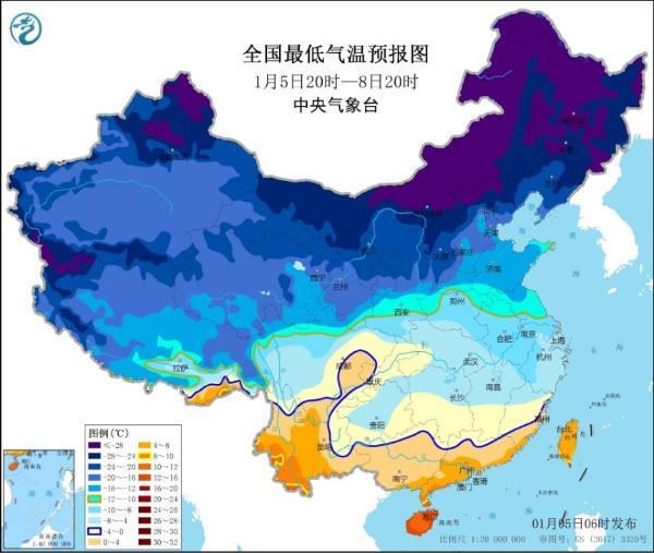 寒潮预警!我国中东部部分地区降温幅度将超10℃