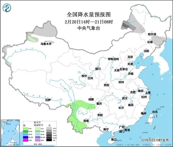 新疆东北部多雨多雪 华北北部等地有沙尘