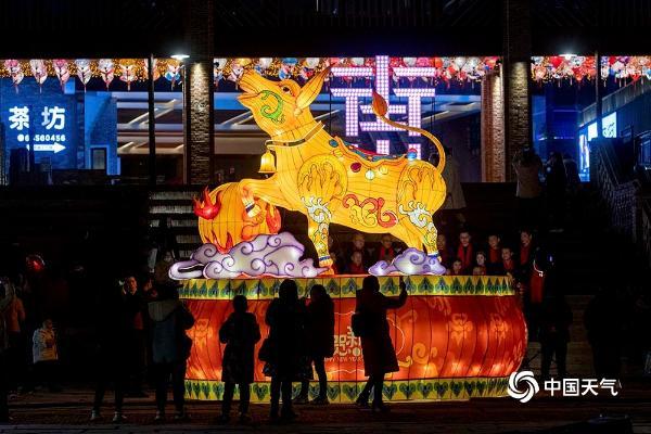 春节在重庆南川古街附近