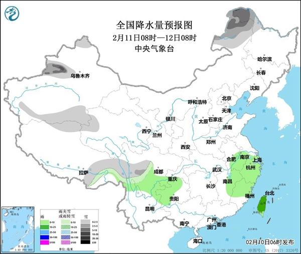 浙江等地有较强降雨 黄淮等地多雾和霾