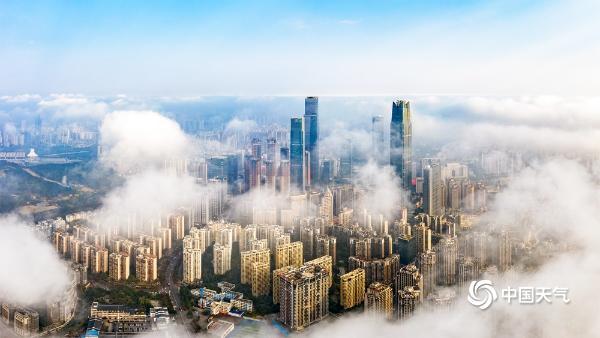 《迷雾》走进仙境!广西南宁平流雾的航空摄影