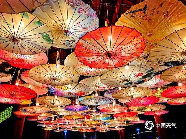 湖南湘西国家文化公园依然灯火辉煌