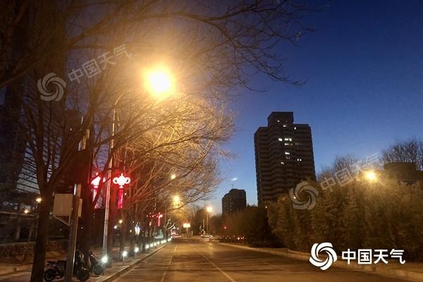 北京6至7级阵风的最低温度接近零下10摄氏度