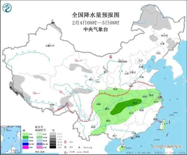中部和东部地区继续升温 长江中下游在线阴雨