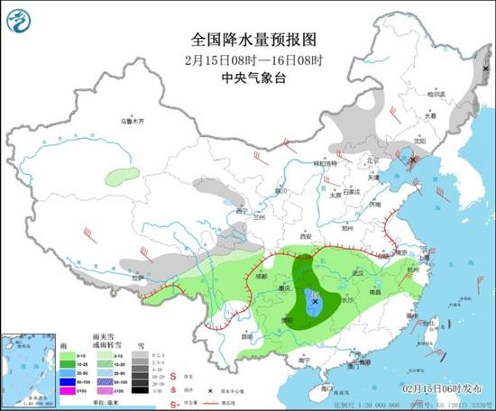 中部和东部大部分地区有强风和凉爽的天气 辽宁吉林本地降可超过10°c