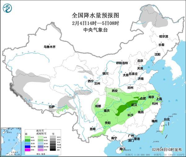湖南、江西等地有雾长江中下游有雨
