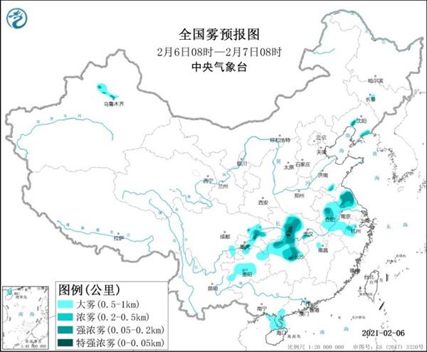 大雾黄色预警继续!湖南湖北重庆等局地有特强浓雾