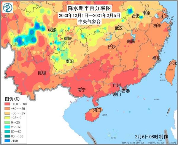 华南将迎来大规模降雨过程 这将有助于缓解干旱和减少森林火灾风险