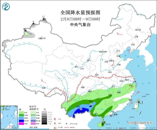 南方大范围降雨来袭 中东部气温多波动