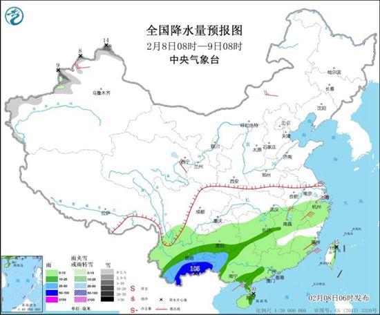 暴雨区向东移动 广东和广西有大雨