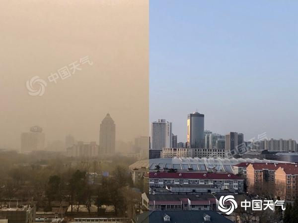 北京今天下午或尘土飞扬的天气将转晴