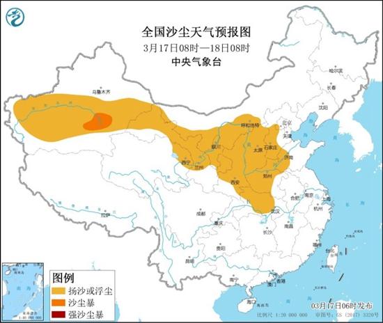 沙尘暴蓝色预警!中国11个省、自治区的部分地区有风沙或浮尘