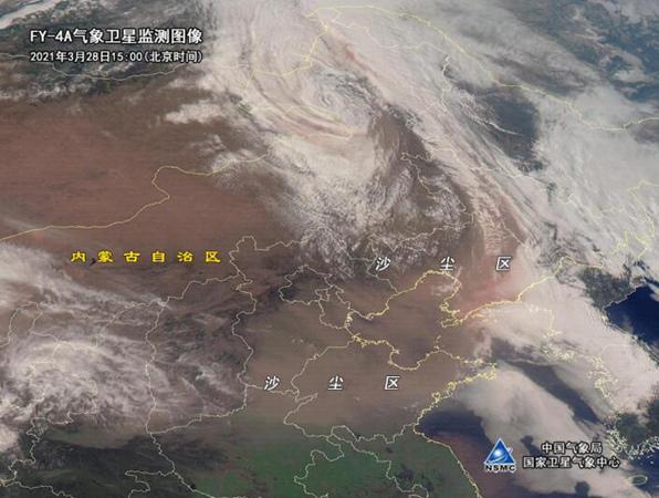 北方沙尘范围约达74万平方公里 今夜起沙尘强度将减弱