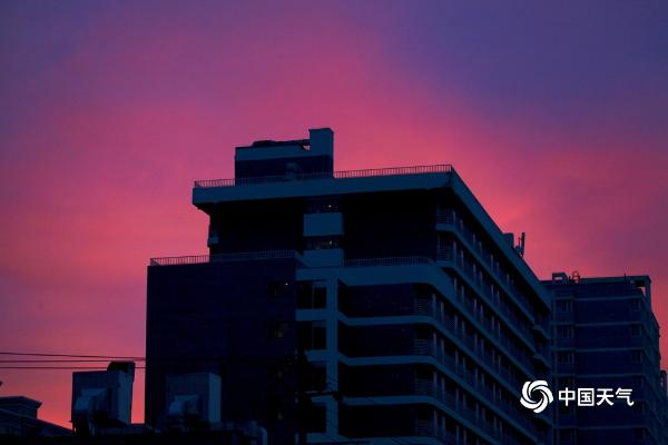 美女!北京尘埃落定后 有美丽的日出