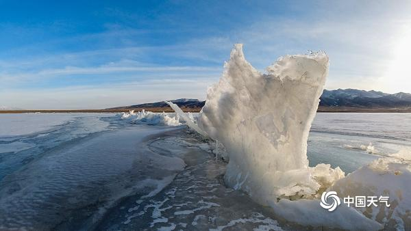 """春的脚步近了!""""高原蓝宝石""""青海湖冰雪正消融"""