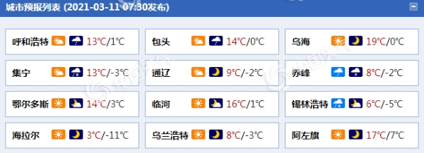 内蒙古今明天有降雪 呼伦贝尔等地有积雪