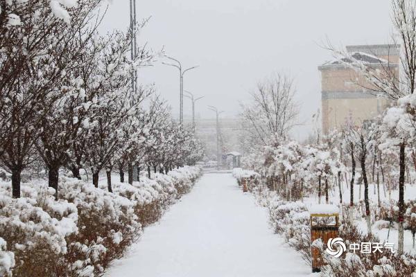 新疆义乌雪深10厘米