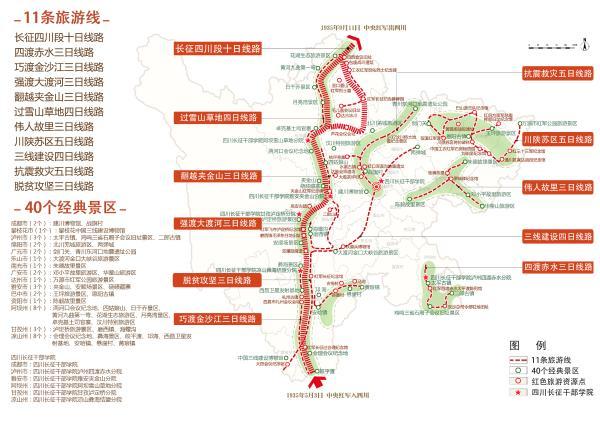 四川发布11条红色旅游精品线路