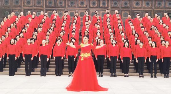 音乐电视《中华颂》在中国人民抗日战争纪念馆演唱