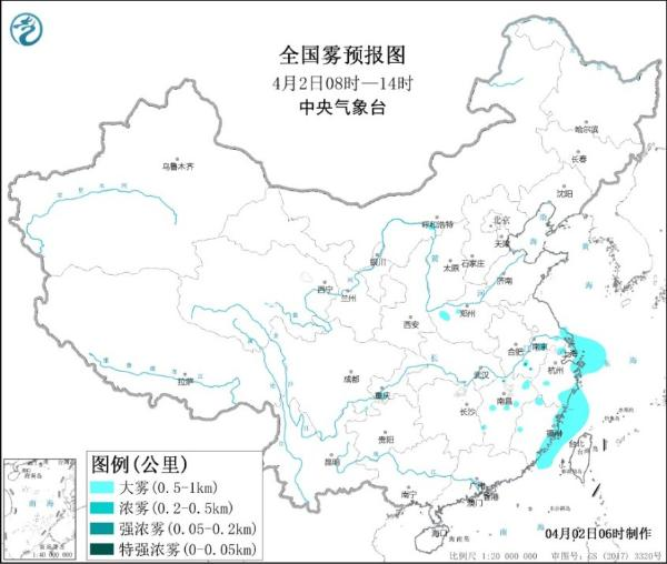 大雾黄色预警!浙江福建沿岸等海域将有能见度不足1公里的大雾