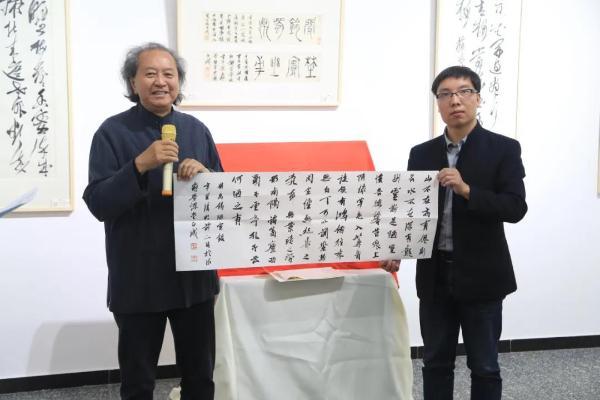 刘正成书法展成为晗美术馆开馆首展