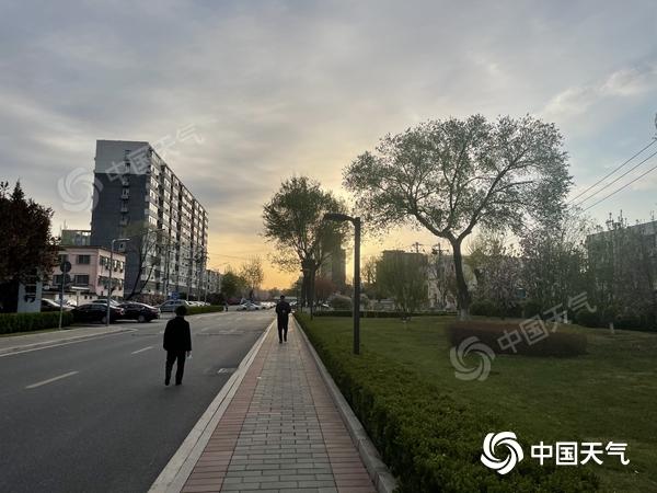 北京今天阳光明媚 适合徒步旅行和扫高浓度花粉 注意保护