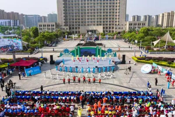 安徽第八届茉莉花全民健身展示大赛天长开幕