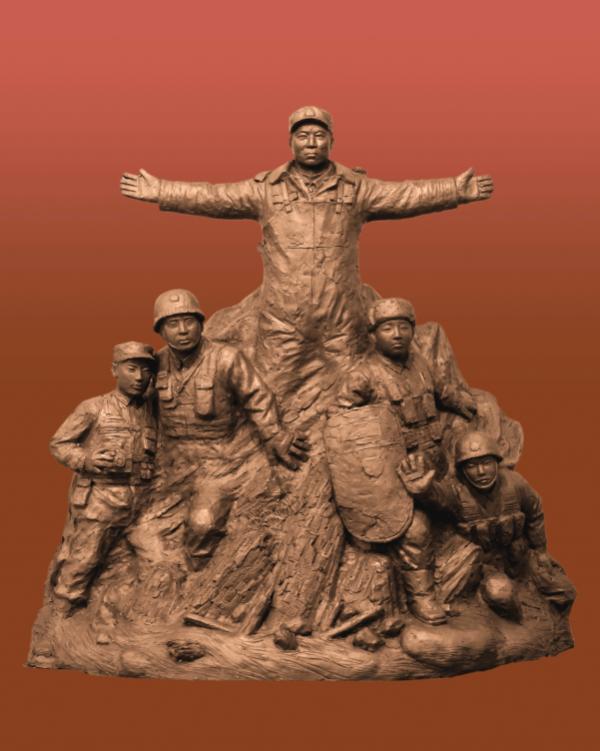 为民族雕像、为人民抒情