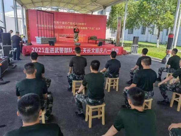 """安徽滁州""""百戏献礼""""巡演进军营"""