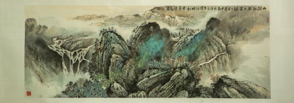 河北广宗县举办庆祝中国共产党成立100周年国画山水精品展