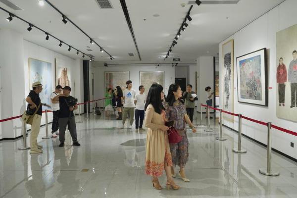 陕西省美术作品巡展安康站开幕 献礼中国共产党成立100周年