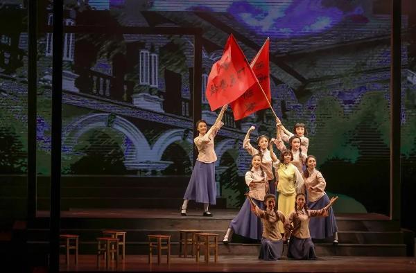 红色主题黄梅戏《不朽的骄杨》在肥演出