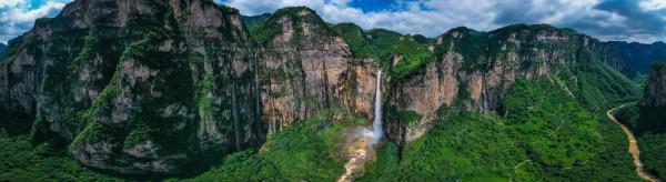 气势磅礴!亚洲第一高瀑迎来最大水量