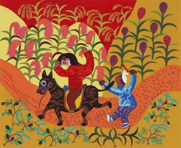 大地花开 陕西农民画展将在尼泊尔精彩上线